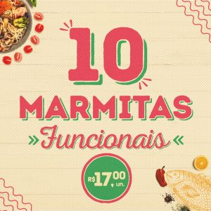 10 marmitas funcionais a sua escolha