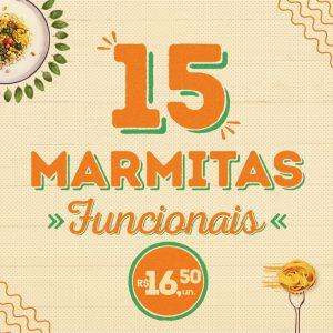 15 marmitas funcionais a sua escolha