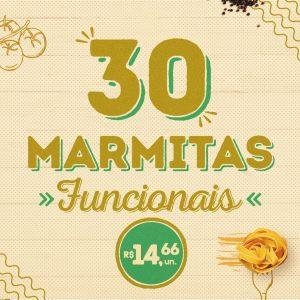 30 marmitas funcionais a sua escolha
