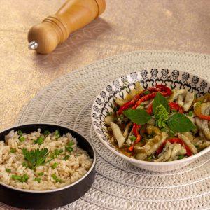 Moqueca peixe espada com arroz integral
